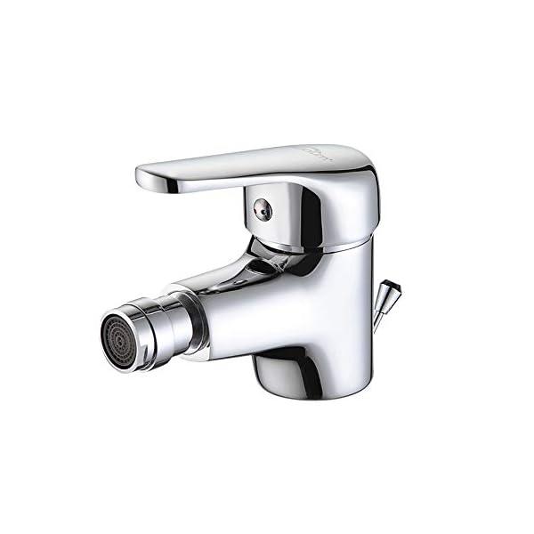 AuraLum – Grifos Bidet con Aireador y Vaciador Automático Grifo de Bidé Monomando Latón Cromado Mezclador Bidé WC