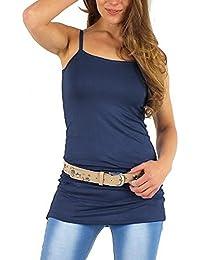 Easy Young Fashion Damen Spaghetti Top lang / Minikleid One Size