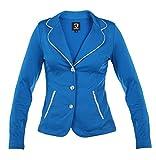 Rojo competencia chaqueta, azul real
