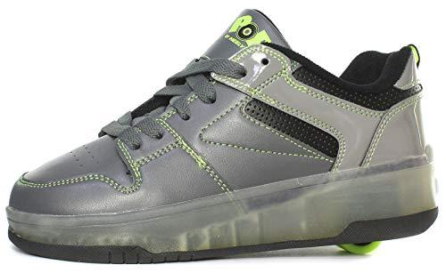 Heelys Pop Push Lighted Junior Roller Skate Schuhe/Sneakers, Grau, Gr. 38 -