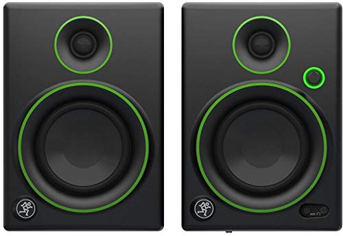 Mackie CR4 LTD Creative Reference Multimedia Monitor, limitierte Auflage, 10,2 cm Standard 4-inch Black w/green trim (Mackie Studio-monitore)