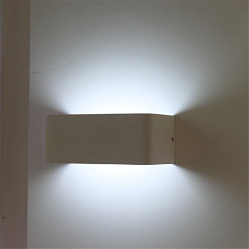 ATD® La Luce bianca creativa minimalista moderna Rettangolo acrilico lampada da parete,luce bianca rettangolo Applique da lampada da parete in legno