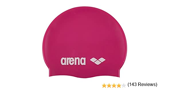 cdc21a605d09 Arena Classic Silicone, Cuffia Donna, Fuchsia/Bianco, Taglia Unica:  Amazon.it: Sport e tempo libero