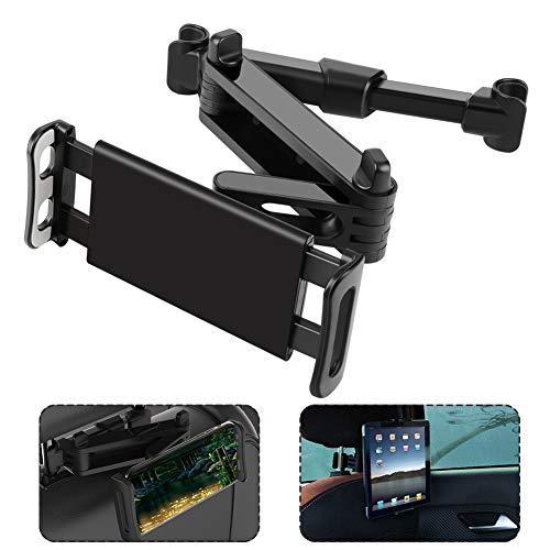 Etmury Tablet Halterung Auto, Tablet Halter Kopfstütze - Ausziehbare Kopfstützenhalterung für iPad iPhone Serie/Samsung Galaxy Tabs/Kindle Fire HD/Nintendo Switch usw. 4,7-10.5 Zoll Geräte