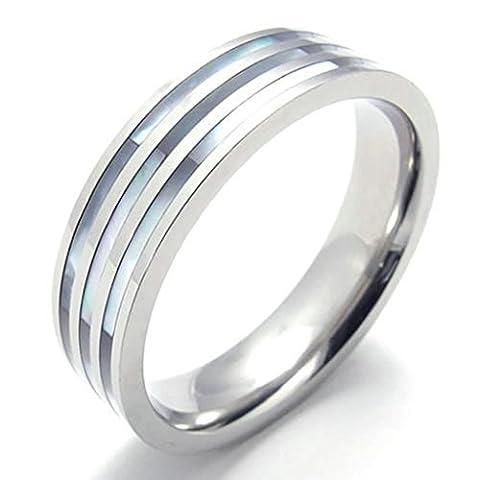 AMDXD Taille 68 Wedding Band 6Mm En Acier Inoxydable Bijoux