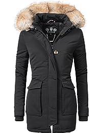 Navahoo Damen Winter-Jacke Winter-Mantel Schneeengel (vegan hergestellt) 11 Farben XS-XXL
