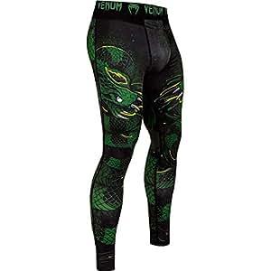 Venum Green Viper Pantalon de Compression Homme, Noir/Vert, FR : S (Taille Fabricant : S)