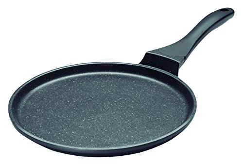 Lacor 24136 Eco-Piedra Cast Aluminium Crepiere, Black, 26 cm