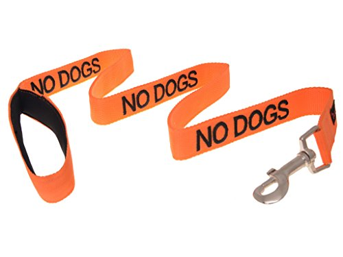 NO-DOGS-Not-good-with-other-dogs-Orange-Colour-Coded-60cm-12m-18m-Luxury-Neoprene-Padded-Handle-Dog-Leads-PREVENTS-Accidents-By-Warning-Others-Of-Your-Dog-In-Advance-12m