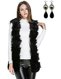 Sitengle Mujeres Chaleco Pelaje Piel Sint¨¦tica Abrigo Blazers Capa Blusa Capucha Coat Jacket