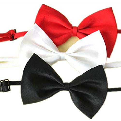 Für Max Kostüm Hunde - Lalang 3 x Haustier Niedliche Kragen Fliege Für Hund Katze Krawatte Halsband Vielfarbe
