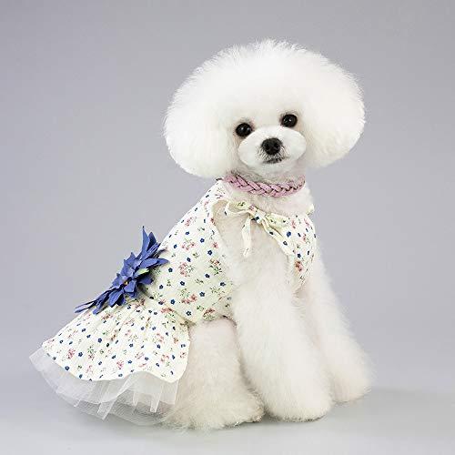 Pet 548925 Nettes Haustier-Hündchen-Blumen-Ballettröckchen-Kleid-Rock-Prinzessin Dress Costume Clothes Apparel Kleine Hundesommer-Ballettröckchen-Kleid-Rock-Kleidung,Yellow,XL
