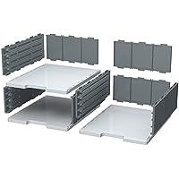 Exacompta Modulodoc - Elemento base de casillas, 110 mm, color gris luz y gris oscuro