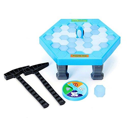 Tischspiel Desktop Spiel Balance Eiswürfel Speichern der Pinguin Eis brechen Interaktive Party-Spiel Familie Strategie Spiele(38 pcs ices) (Kunststoff-eiswürfel Sicher)