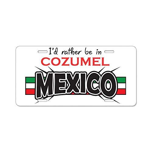 BNHF CafePress - Cozumel Mexico Aluminum License Plate - Aluminum License Plate, Front License Plate, Vanity Tag