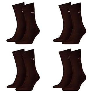 PUMA Herren Casual Socken Classic 8er Pack (39-42, Dark Brown)