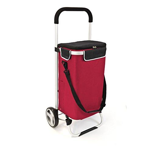 bremermann Einkaufstrolley BRINKUM, Handwagen, Einkaufswagen mit Abnehmbarer Tasche (rot)