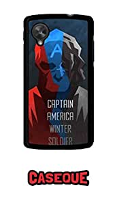 Caseque Captain America Winter Soldier Back Shell Case Cover For Google Nexus 5