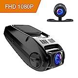 APEMAN Caméra de Voiture Caméra Embarquée 1080P Full HD Grand Angle 170° Polyvalent DASHCAM Enregistreur de Conduite avec Caméra Arrière G-senseur Condensateur Intégré(Noir)
