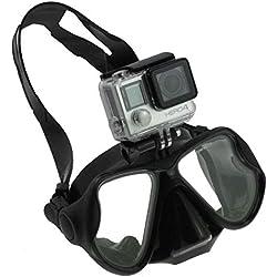 Navitech Masque De plongée sous-Marine Noir De Plongée avec Monture Compatible avec GoPro HD Hero 2   GoPro HD Hero 2 Outdoors   GoPro HD Hero 3   GoPro HD Helmet Hero   GoPro HD Naked Hero