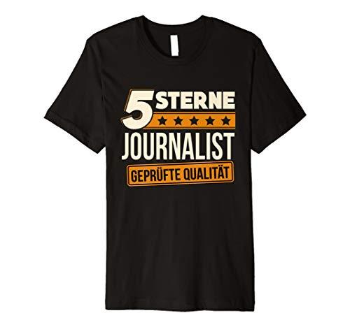 Herren 5 Sterne Journalist T-Shirt Journalismus Geschenk