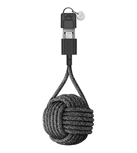 Native Union Clave Cable Ultra Resistente-Reforzado [Apple MFI Certificado] Lightning a USB iPhone/iPad Cable de Carga con Llavero (Stampd)