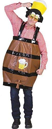 Kostüm Bierkrug dunkelbrauner Bierkrug als Umhänger mit Schulterträgern -