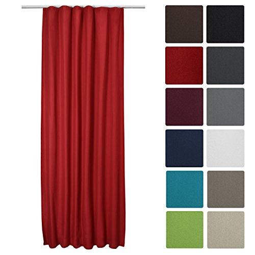 Beautissu® Thermo-Vorhang Amelie mit Kräuselband – 140×245 cm – Isolierende Gardine Universalband – diverse Farben
