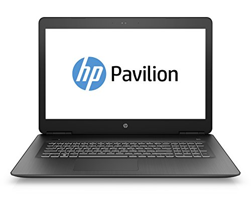 HP Pavilion Notebook 17-ab309ng 43,9 cm (17,3 Zoll Full HD IPS) Notebook (Intel Core i7-7700HQ, 16GB RAM, 1TB HDD, 128GB SSD, Nvidia GeForce GTX1050Ti 4GB, DVD-RW, Windows 10 Home) schwarz