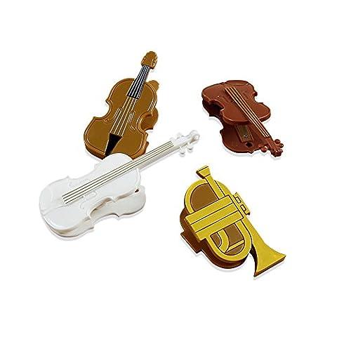 Zhi Jin fantaisie 4pcs Violon Forme Note à anneaux Clips signets Plastique Piano page livre Clips