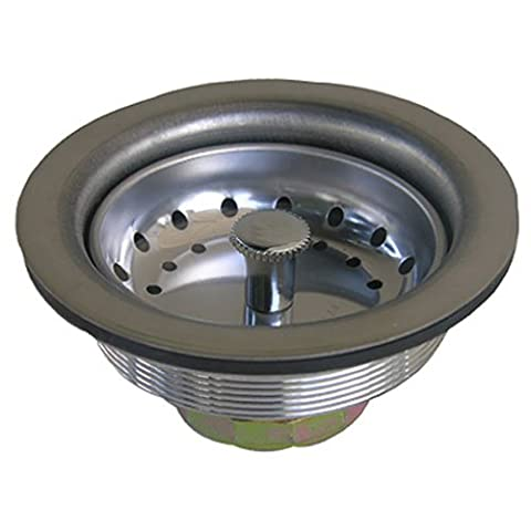 LASCO 03-1051 Chrome Plated Stainless Steel Body Kitchen Sink Basket Strainer Assembly for 3-1/2-Inch Opening by LASCO