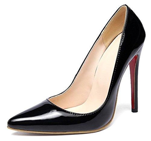 best loved 8fc81 48b53 YE Damen Spitze Rote Sohle High Heels Lack Leder Stilettos ...