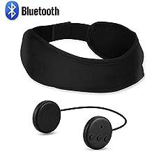 AGPTEK Auriculares de Diadema Bluetooth, Auriculares de Dormir Lavables, Cómodo y Transpirable para Dormir