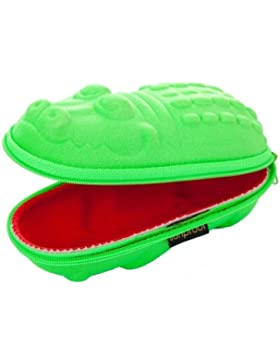 Sunproof Sunglasses case red mouthed Green Crocodile by Sunproof