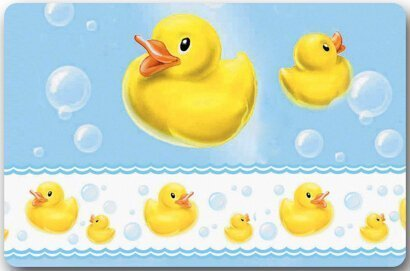 dab598f873 HujuTM Yellow Rubber Duck Large Doormat Neoprene Backing Non Slip Outdoor  Indoor Bathroom Kitchen Decor Rug