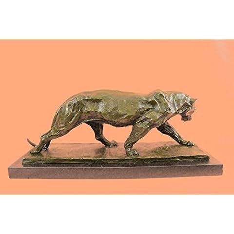Barye africanos Leona animal de la fauna Esculturas de animales, estatuas, estatuillas, Regalos, Coleccionismo Bronce ... 9