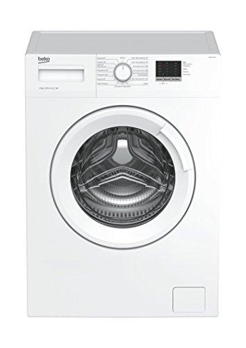 Beko WML 16106 N Waschmaschine Frontlader/6kg/A+/1000 UpM/Mengenautomatik/weiß/49 cm tief/Reversierende Trommel/LED Display