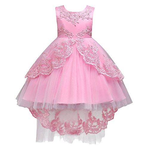 Mädchen Kinder Mit Kleider Blumenmädchenkleider Hochzeitskleid Maxikleid Festlich Brautjungfern...