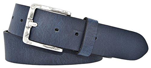 Mytem-Gear Damen Leder Gürtel Belt Ledergürtel Rindleder 40 mm Damengürtel (95 cm, Blau)