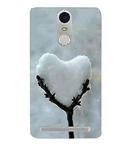 PrintVisa Lovely Snow Heart 3D Hard Polycarbonate Designer Back Case Cover for Lenovo K5 Note :: Lenovo Vibe K5 Note Pro