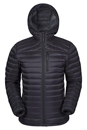 Mountain Warehouse Henry Herren Gefütterte Daunenjacke Leicht Warm Isoliert Perfekt für Winter Schwarz X-Large