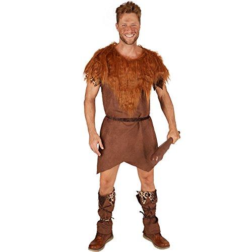 TecTake dressforfun Herrenkostüm Steinzeit-Jäger | Höhlenmensch Verkleidung | inkl. Gürtel und Beinstulpen (S | Nr. - Sexy Tarzan Kostüm