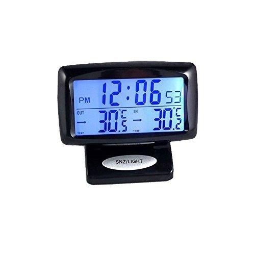 Boladge Automotive Elektronische Uhr LED Inside & Outside Temperatur Fahrzeug Thermometer Uhr