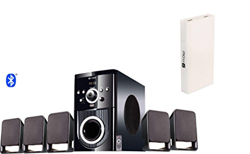 Flow Buzz Bluetooth 5.1 Speaker Home Theatre System with Powerful 13000mAh Power Bank (Black)