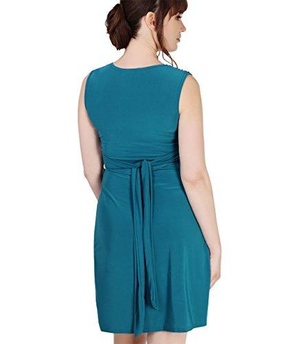 KRISP® Femmes Robe Inspiration Portefeuille Soirée Cocktails Elégante Maternité Grossesse Bleu / vert
