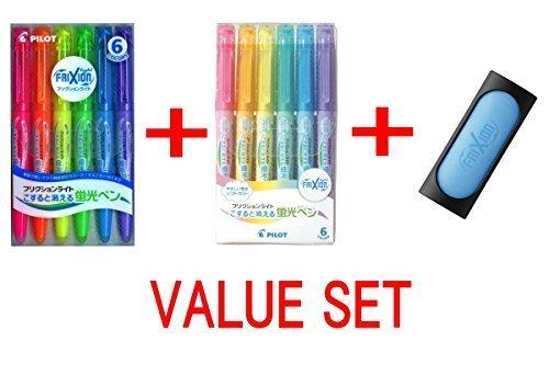 Pilot Frixion 6 Color Eraser Value set ( 3 Items) by Pilot (Color Fluorescent-set Sechs)