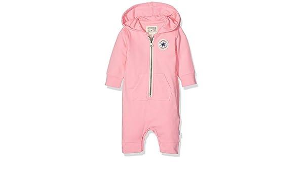 684ecaa591ec4b Converse Baby Girls  C.T.P Core Coverall Hoodie (Pink Glow)