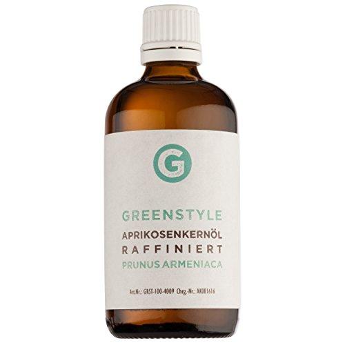 Mandeln Aprikosen (Aprikosenkernöl 100ml - reines Öl zur Pflege von Haut, Haaren und Gesicht von greenstyle)