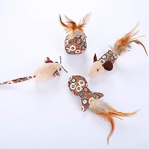 Zantec giocattolo per gatti topolino divertente mini mouse interattivo per gatti animali (colore casuale)