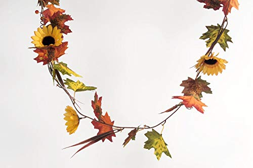 (Heitmann DECO 7111 Herbstgirlande mit Sonnenblumen, Kunstblumen, Mehrfarbig, One Size)